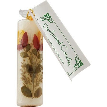 Flower Candle Vanilla Cylindrical, 2cm, Auroshikha Candles & Incense