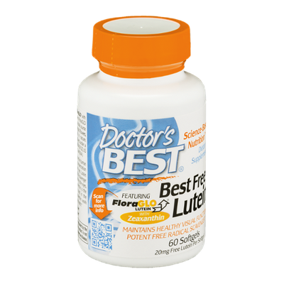 Doctor's BEST Best Free Lutein 20mg Dietary Supplement Softgels - 60 CT