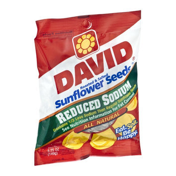 David Reduced Sodium All Natural Roasted & Salted Sunflower Seens