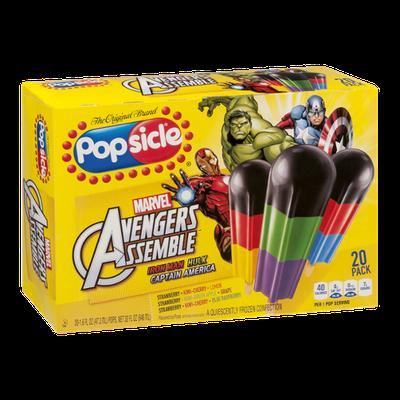 Popsicle Marvel Avengers Assemble Pops - 20 CT