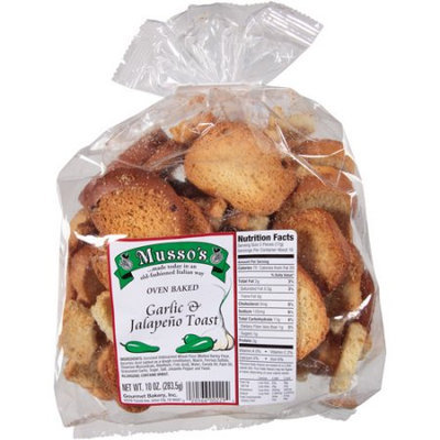 Generic Musso's Garlic & Jalapeno Toast, 10 oz, (Pack of 6)