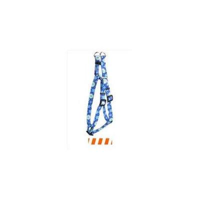 Yellow Dog Design SI-TSOW101S Team Spirit Orange and White Step-In Harness - Small