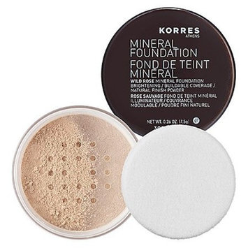 Korres Wild Rose Mineral Foundation, Fair, 0.26 Ounce