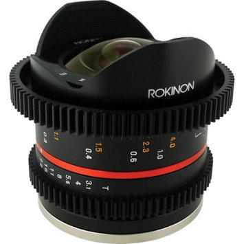Rokinon 8mm T/3.1 Cine Fisheye Lens (for Video DSLR Fuji X Cameras)