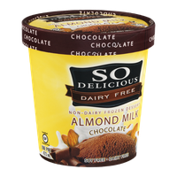 SO Delicious Non-Dairy Frozen Dessert Almond Milk Chocolate