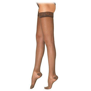 Sigvaris EverSheer 781NSLW33 15-20 Mmhg Closed Toe Small Long Thigh Hosiery For Women Natural