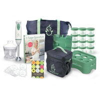 Sage Spoonfuls Baby Food Making System - 22 Pc Kit With Blender, Storage Bags, Trays, Jars, And Recipe Book (Discontinued by Manufacturer)