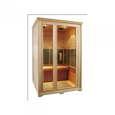 Inner Balance IB530 2 Person FIR Sauna With MP3 Player Input, Stereo Speakers, Halogen Reading Lights, Low Energy Consumption & Carbon Heating Technology