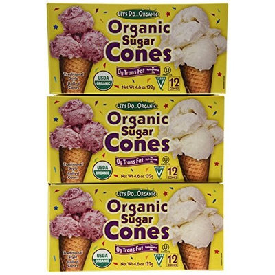 Let's Do Organic Sugar Cones, 12-Count Boxes (Pack of 12)