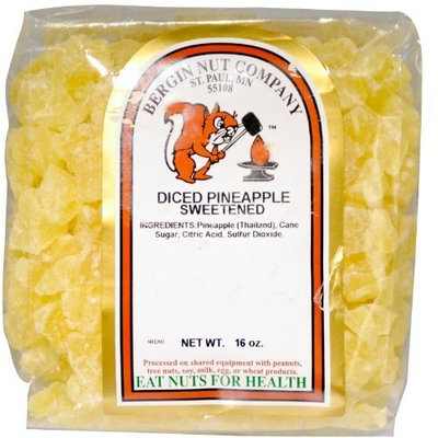 Bergin Fruit and Nut Company, Diced Pineapple, Sweetened, 16 oz