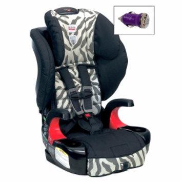 Britax Frontier 90 Booster Car Seat and FREE Mini Auto USB Adapter, Zebra, 1 ea