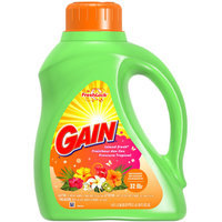 Gain Liquid Detergent with FreshLock for High Efficiency Machines