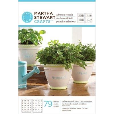 Plaid:craft Martha Stewart Adhesive Stencils 2 Pkg Condensed Alphabet