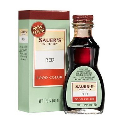 Sauer's Red Food Color, 1-Ounce Bottles (Pack of 6)