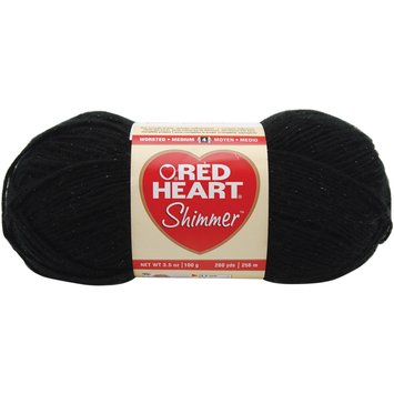 Coats: Yarn Red Heart Shimmer Yarn Black