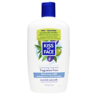 Kiss My Face Hand Soap Refill, Fragrance Free, 17.5 fl oz