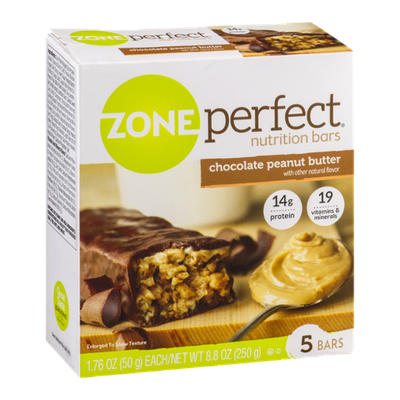 Zone Perfect Nutrition Bars Chocolate Peanut Butter - 5 CT
