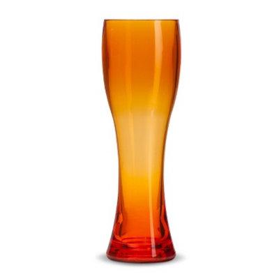 Inno-Art Plastic Pilsner Glass Set of 4 - Orange