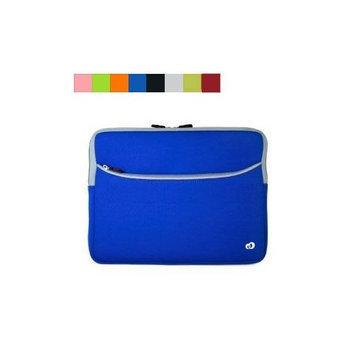 17 Black Blue Trim Laptop Carrying Case + SumacLife TM Wisdom Courage Wristband
