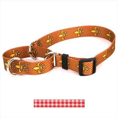Yellow Dog Design M-GNR103L Gingham Red Martingale Collar - Large