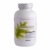 FoodScience of Vermont Sea Mussel Plus 180 Tablets