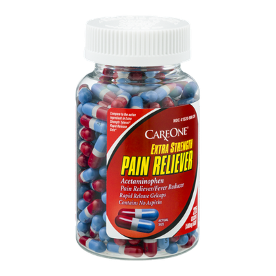 CareOne Extra Strength Pain Reliever Gelcaps - 225 CT