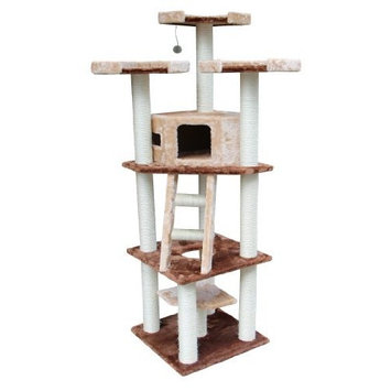 Kitty Mansions Hollywood Cat Tree, Brown/Beige