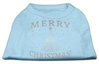 Ahi Shimmer Christmas Tree Pet Shirt Baby Blue XS (8)