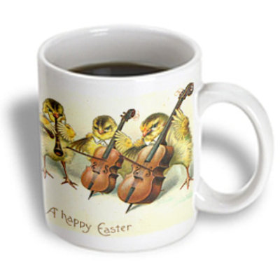 Recaro North 3dRose - Cassie Peters Vintage - Easter Chicks - 15 oz mug