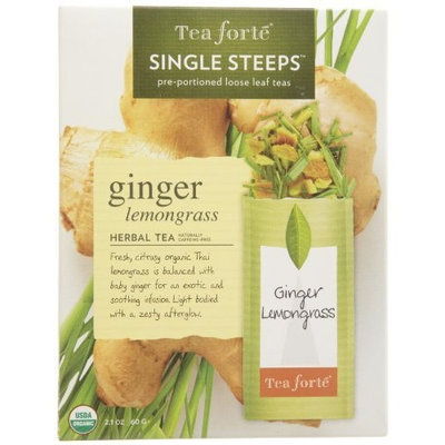 Tea Forte Tea Forté Ginger Lemongrass Tea, 12 Single Steeps