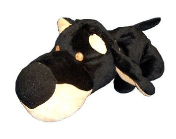 Boss Pet Fathedz Dobie Dog Toy - Black/Brown