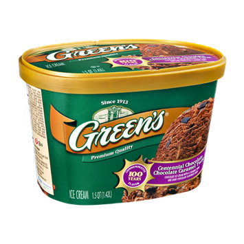 Green's Centennial Chocolate Chocolate Caramel Twist Ice Cream