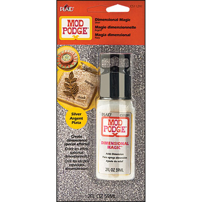 Plaid Enterprises, Inc. Plaid Mod Podge Dimensional Magic, Silver, 2 oz