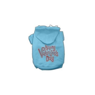 Ahi Happy Valentines Day Rhinestone Hoodies Baby Blue M (12)