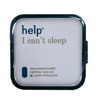 Help I Can't Sleep Diphenhydramine HCl Nighttime Sleep Aid 25mg 16ct