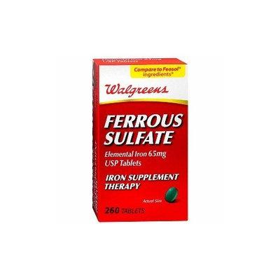 Walgreens Ferrous Sulfate 65mg Iron Tablets, 260 ea