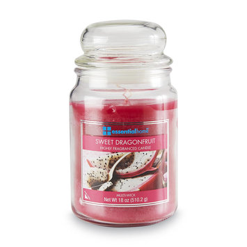 Essential Home 18 Ounce Jar Candle Sweet Dragon Fruit - LANGLEY PRODUCTS L.L.C.