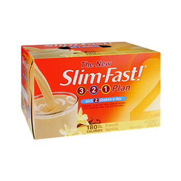 Slim Fast! 3-2-1 Plan French Vanilla Shakes - 6 CT