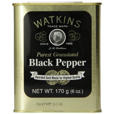 Watkins Spice Tin, Pure Ground Black Pepper, 6 Ounce
