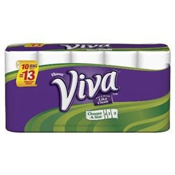 Viva Choose-A-Size Big Roll (1.25X Regular), 10 ct