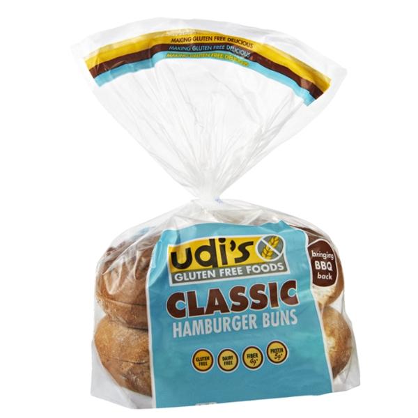 Udi's Gluten Free Classic Hamburger Buns - 4 CT