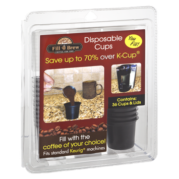 Fill 'n Brew Coffee For One Disposable Cups & Lids - 36 CT