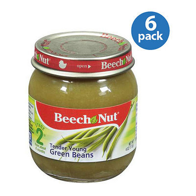 Beech-Nut Stage 2 Tender Young Green Beans Baby Food