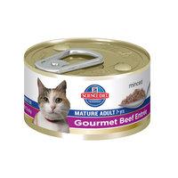 Hills Pet Nutrition Science Diet Gourmet Beef Mature Cat Food 3oz