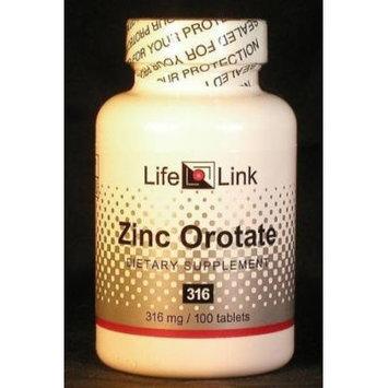 Zinc Orotate 316mg LifeLink 100 Tabs