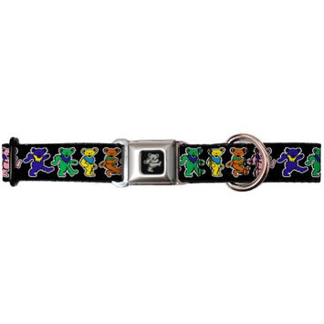 Buckle-down Inc. The Grateful Dead Psychedelic Dancing Bears Seatbelt Dog Collar - USA Made