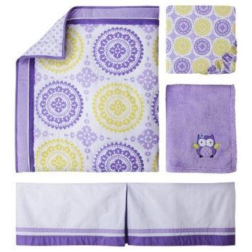 4pc Crib Bedding Set - Purple Medallion by Circo