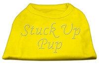 Ahi Stuck Up Pup Rhinestone Shirts Yellow XS (8)
