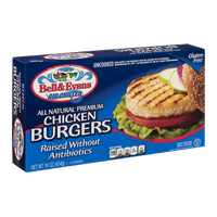 Bell & Evans All Natural Chicken Burgers - 4 CT