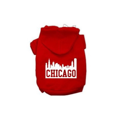 Mirage Pet Products Chicago Skyline Screen Print Pet Hoodies Red Size XXXL (20)